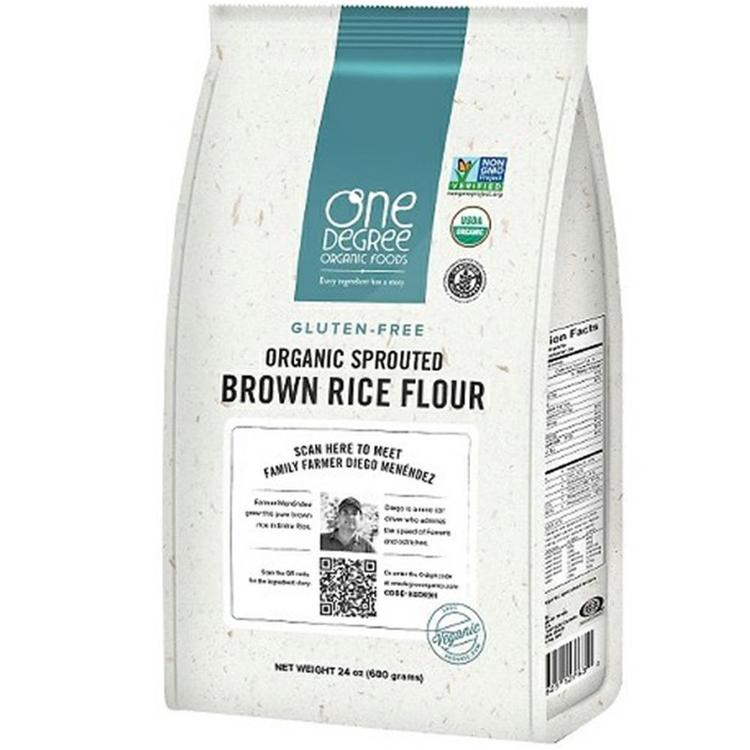 One Degree Organic Foods - Sprouted Brown Rice Flour ( 6 - 24 oz bags)