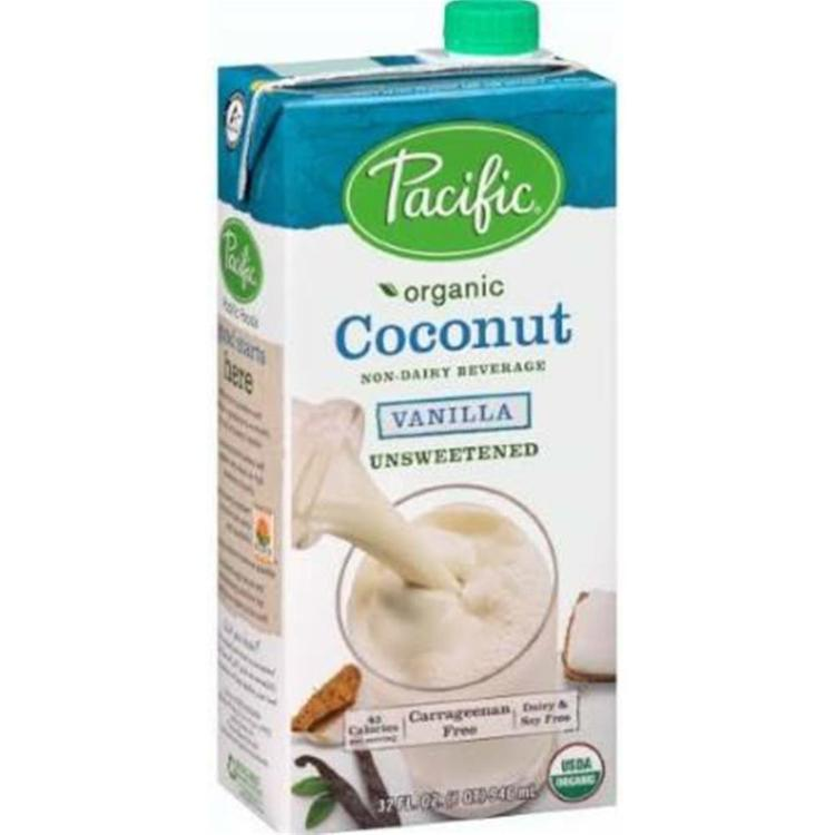 Pacific Natural Foods - Unsweetened Coconut Vanilla Beverage ( 12 - 32 oz bottles)