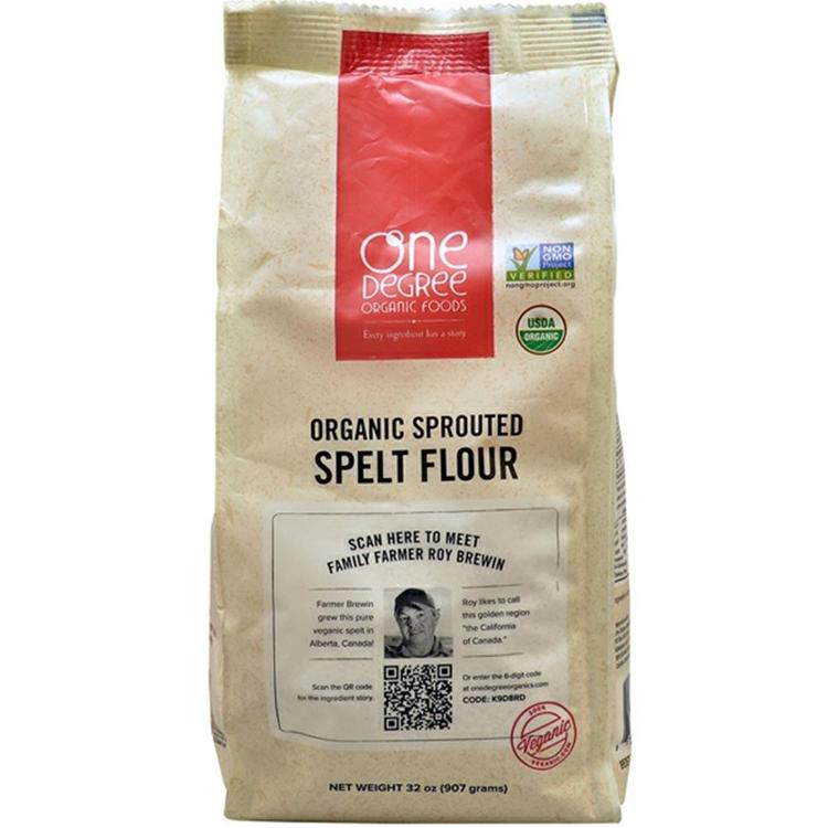 One Degree Organic Foods - Sprouted Spelt Flour ( 6 - 32 oz bags)