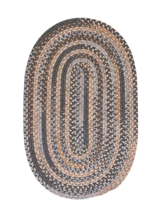 Oak Harbour - Graphite 10'x13' Oval Rug