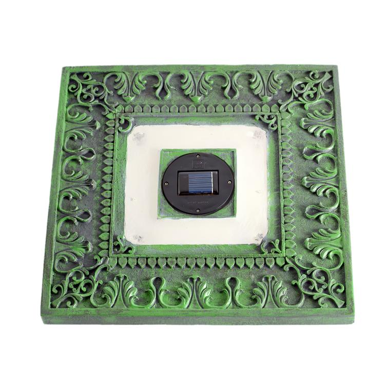 Homebrite Set of 3 Solar Power Square Garden Green Stepping Stones