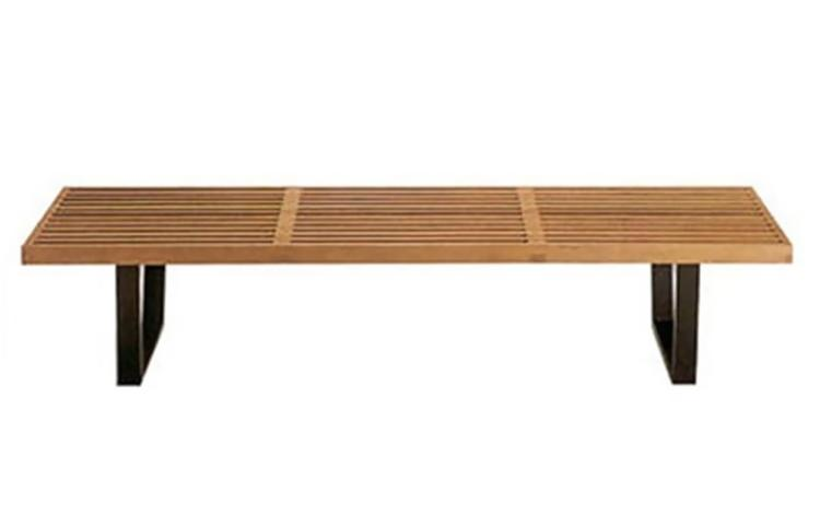 "Fine Mod Imports Wood Bench 72"", Natural"