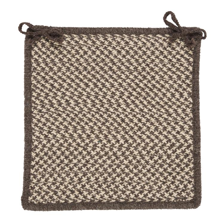 Colonial Mills Natural Wool Houndstooth - Espresso Modern Chair Pad (set 4)