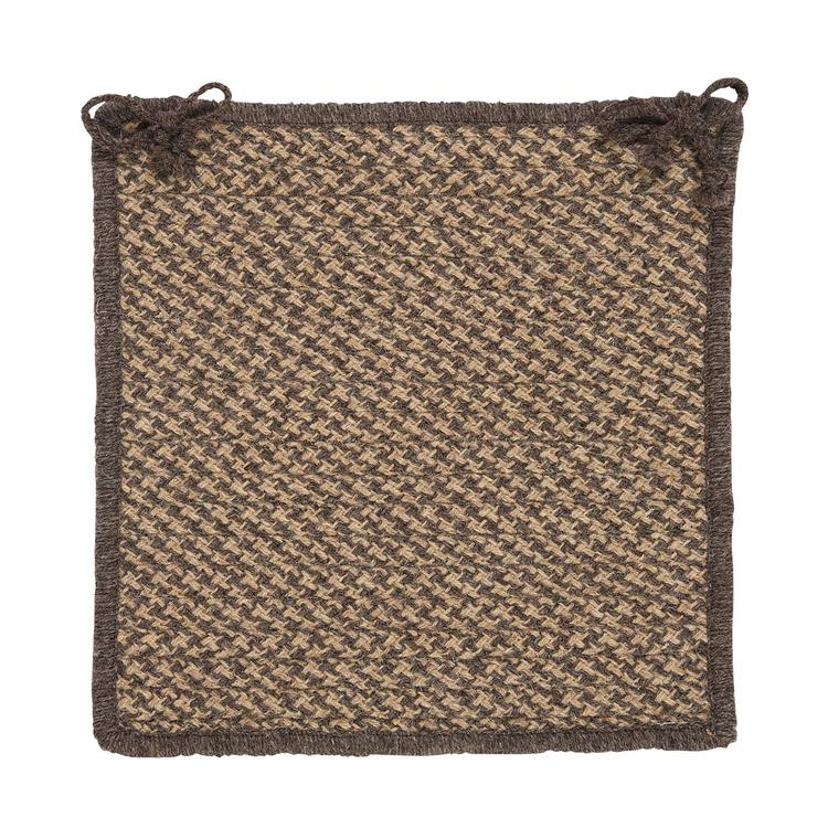 Colonial Mills Natural Wool Houndstooth - Caramel Modern Chair Pad (set 4)