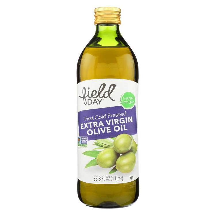 Field Day Olive Oil - Extra Virgin - Imported - Glass Bottle - 1 L - case of 12
