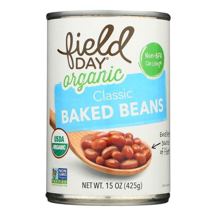 Field Day Beans - Organic - Baked - Classic - 15 oz - case of 12