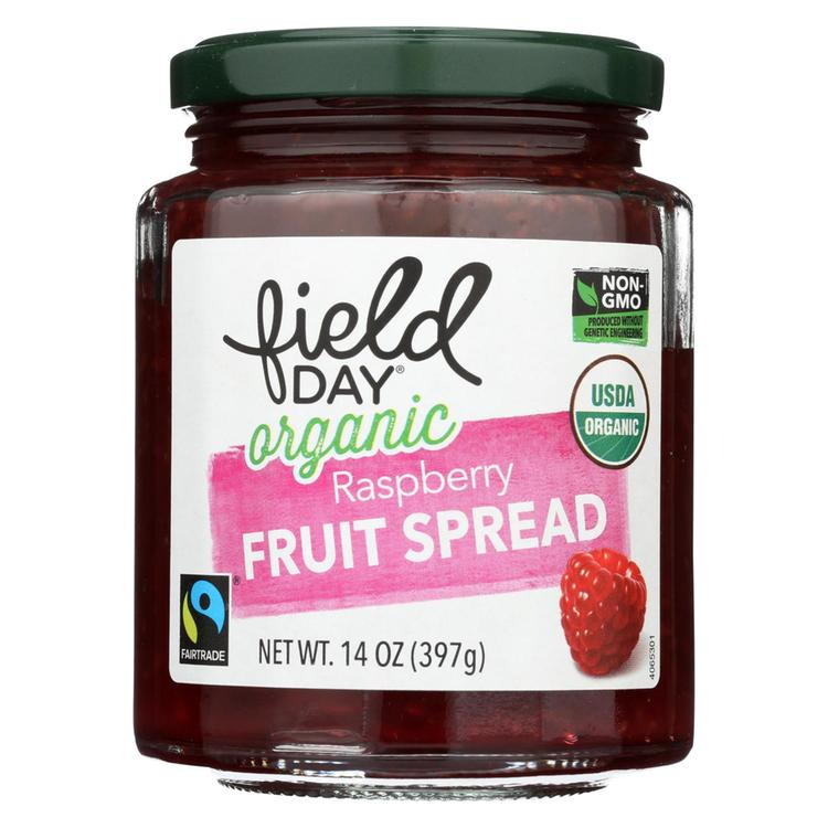 Field Day Fruit Spread - Organic - Raspberry - 14 oz - case of 12