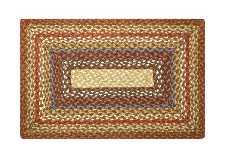 Earth Rugs Home Office Floar Decorative C - 024 Olive/Burgundy/Gray Braided Rug - Rectangle - 27