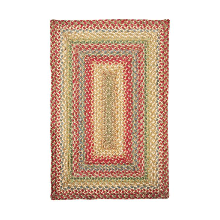 Jute Braided Rugs Rectangle Russet 6'x9'