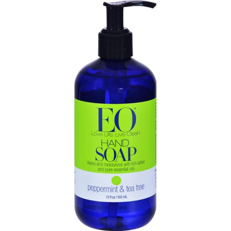 EO Products - Peppermint And Tea Tree Liquid Hand Soap ( 2 - 12 FZ)