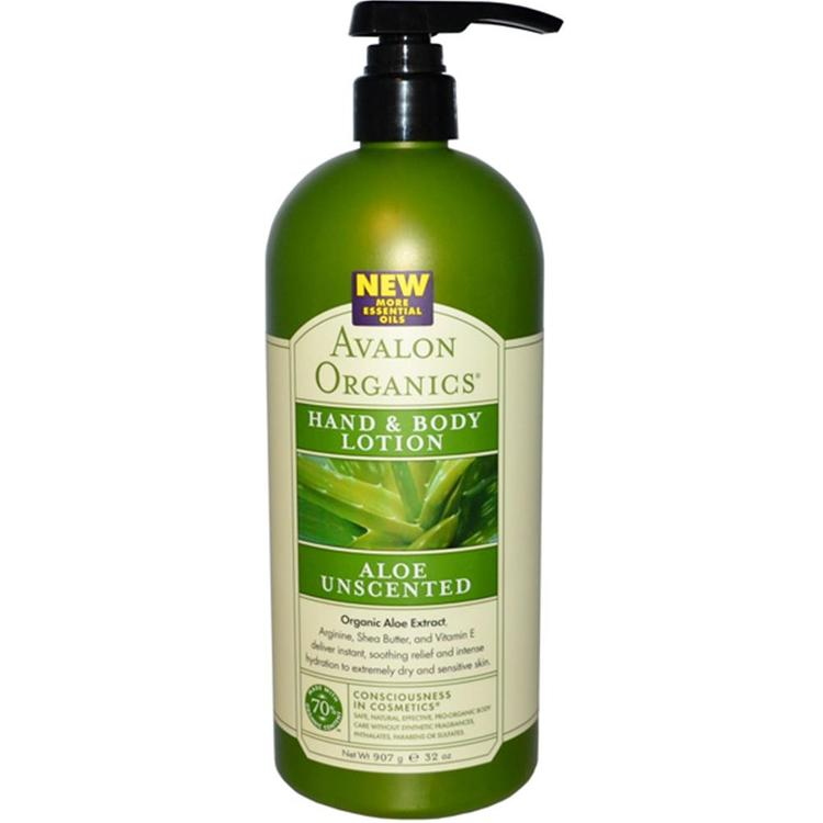 Avalon Organics - Aloe Unscented Hand And Body Lotion ( 1 - 32 FZ)