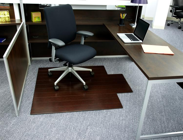 Bamboo Deluxe Roll-Up Chairmat, 72
