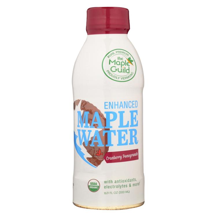 The Maple Guild Organic Enhanced Maple Water - Cranberry Pomegranate - Case of 12 - 16.9 fl oz