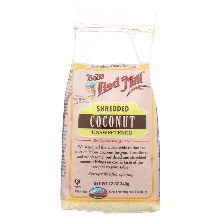 Bob's Red Mill Shredded Coconut (Unsweetened) - 12 oz - Case of 4
