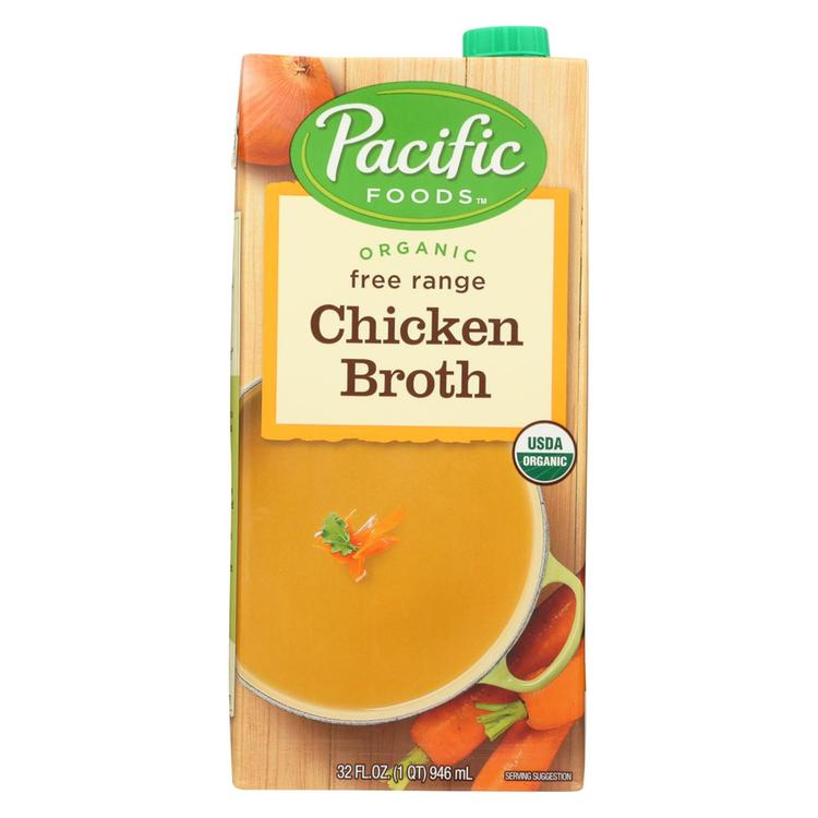Pacific Natural Foods Organic Broth - Chicken - 32 fl oz (Pack of 3)