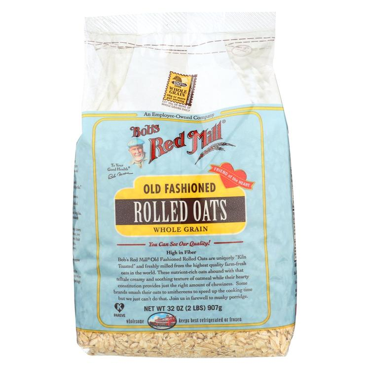 Bob's Red Mill Old Fashioned Regular Rolled Oats - 32 oz - Case of 4