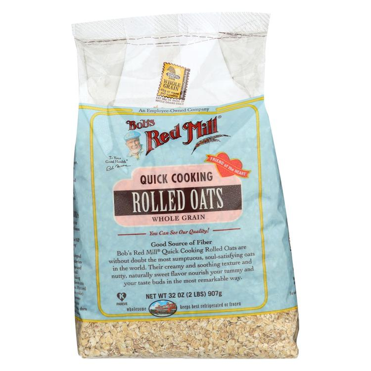 Bob's Red Mill Quick Cooking Rolled Oats - 32 oz - Case of 4