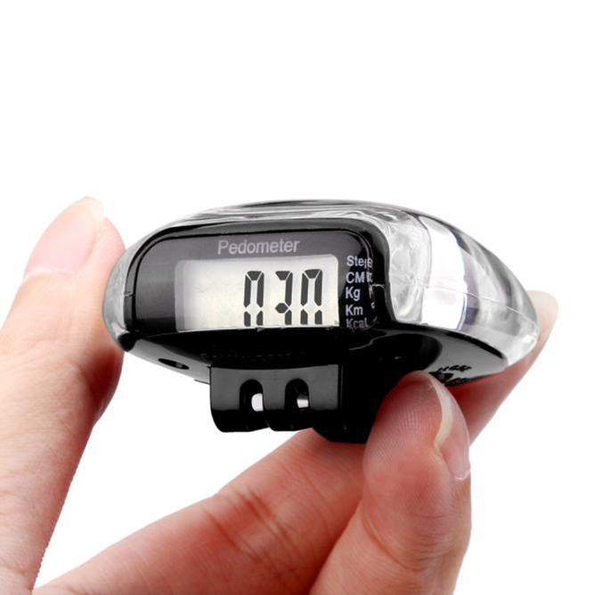 Mini LCD Pedometer Walking Run Step Calorie Distance Calculation Counter