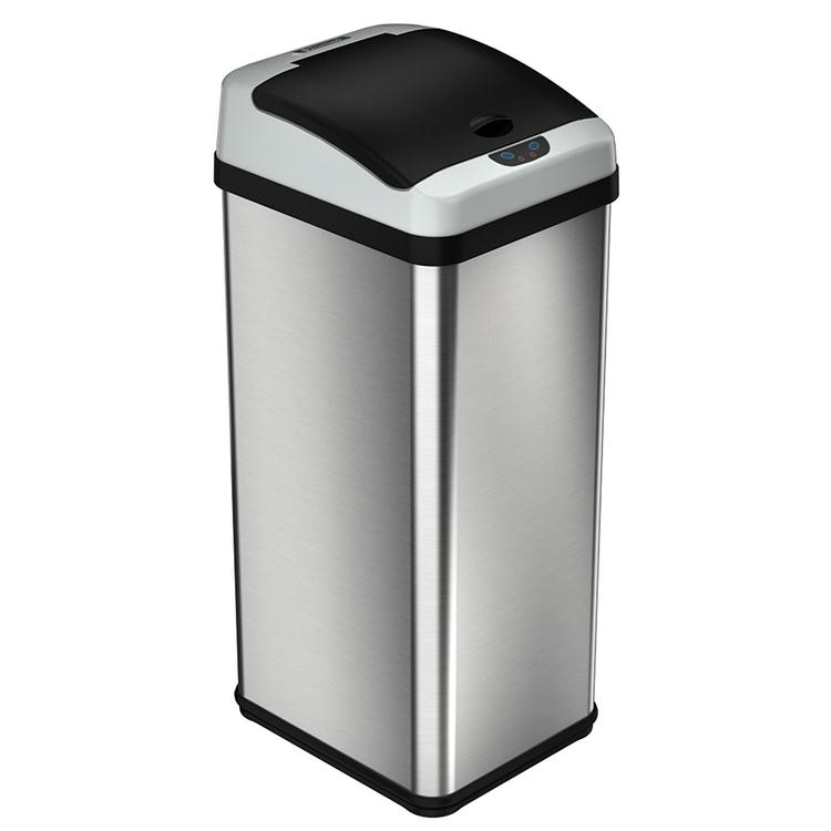 iTouchless 13 Gallon Square Extra-Wide Opening Touchless Trash Can RX