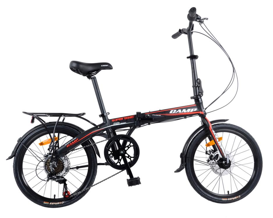 "Camp 20"" Folding Bike Shimano 7 Speed - Red"